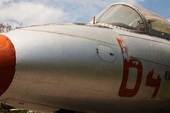 Détail des avions militaires attentivement désuets Photo libre de droits