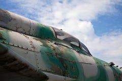 Détail des avions militaires attentivement désuets Photo stock