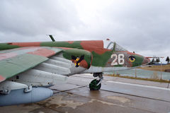 Détail des avions militaires attentivement désuets Photographie stock libre de droits