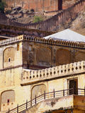 Détail des bâtiments chez Amber Fort dans l'Inde de Jaipur Photographie stock