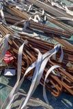 Détail des barres de fer rouillées Photos stock