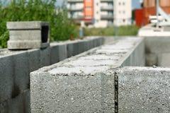 Détail des blocs shuttering sur le chantier de construction Photographie stock libre de droits