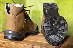 Détail des bottes de marche Image stock