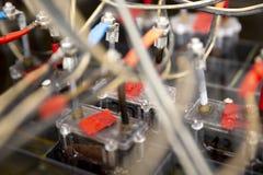 Détail des cellules de batterie image stock