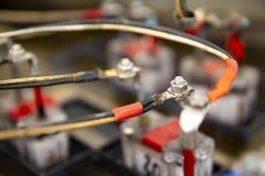 Détail des cellules de batterie photographie stock