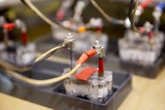 Détail des cellules de batterie photo stock