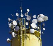 Détail des communications annonçant l'antenne Image stock
