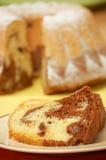 Détail des coupures du gâteau d'ange effectué à la maison Image libre de droits