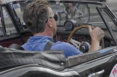Détail des courses d'automobiles de vintage le Nuvolari Grand prix Photographie stock libre de droits