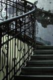 Détail des escaliers rustiques Photographie stock libre de droits