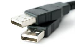 Détail des fiches d'usb images libres de droits
