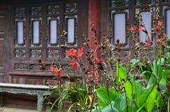 Détail des fleurs dans le jardin Photographie stock libre de droits