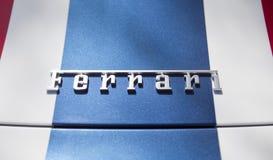 Détail des lettres de Ferrari Images libres de droits