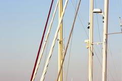 Détail des mâts de voilier Photo libre de droits