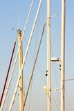 Détail des mâts de voilier Photos libres de droits