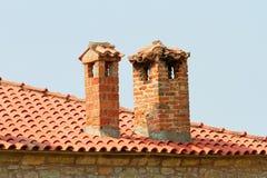 Détail des monastères de Meteora Clifftop Images stock