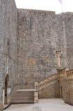 Détail des murs dans la ville de Dubrovnik en Croatie photographie stock