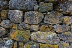 Détail des murs en pierre Images libres de droits