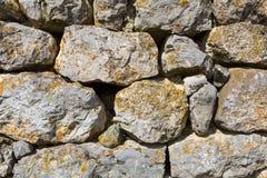 Détail des murs en pierre Image stock