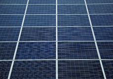 Détail des panneaux solaires Photos stock