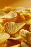 Détail des pommes chips frites Images libres de droits