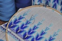 Détail des produits de broderie, macro Photo stock