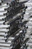 Détail des profils en aluminium image stock