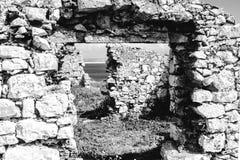 Détail des ruines du forte DA Luz Fort de la lumière, sur la côte occidentale portugaise, Peniche photo libre de droits