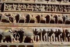 Détail des sculptures Temple de Jagdish Udaipur Rajasthan l'Inde Image libre de droits