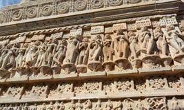 Détail des sculptures Temple de Jagdish Udaipur Rajasthan l'Inde Photographie stock libre de droits