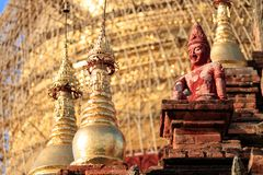 Détail des temples antiques dans Bagan, Myanmar (Birmanie photos stock