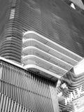 Détail du bâtiment en noir et blanc Photo stock