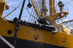 Détail du bateau de navigation italien Amerigo Vespucci Photo stock
