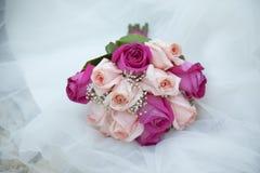 Détail du bouquet nuptiale image stock
