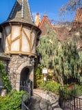 Détail du château du blanc de neige, Fantasyland Photographie stock libre de droits