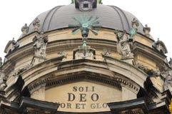 Détail du dôme de l'église dominicaine à Lviv Images libres de droits