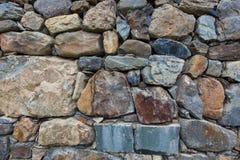 Détail du mur en pierre Photographie stock