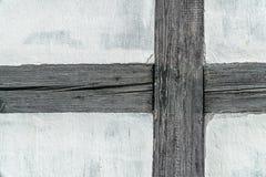 Détail du mur (prussien) de structure de bois photos stock
