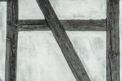 Détail du mur (prussien) de structure de bois photo stock