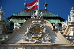 Détail du palais supérieur de belvédère, Vienne photo stock