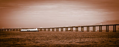 Détail du pont de Rio-Niteroi Images libres de droits