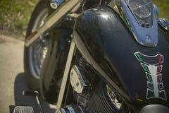 Détail du réservoir d'un vélo fait sur commande Image libre de droits