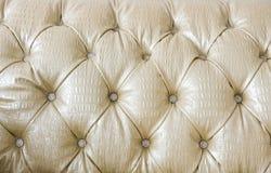 Détail du sofa en cuir Image libre de droits