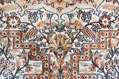Détail du tapis en soie d'Isphahan Photographie stock