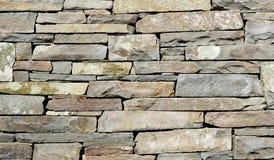 Détail empilé de mur en pierre images libres de droits