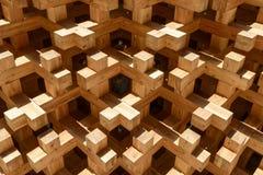 Détail en bois au pavillon du Japon, EXPO Milan 2015 Photo stock