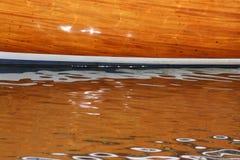 Détail en bois de bateau Photos stock