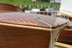 Détail en bois de bateau Photo stock