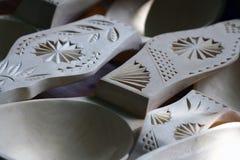 Détail en bois de cuillères Image stock