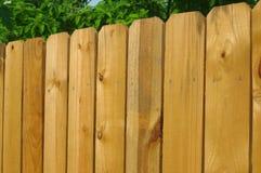 Détail en bois de frontière de sécurité Photographie stock